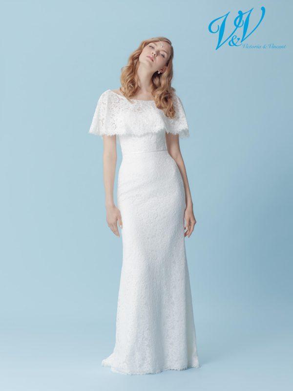 Ein figurbetontes Brautkleid mit Herzausschnitt. Perfekt für einen Vintage-Auftritt.