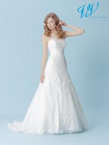 Ein Hochzeitskleid der A-Linie mit schönem Illusion-Rücken aus Spitze. Sehr hochwertige Qualität der Spitze.