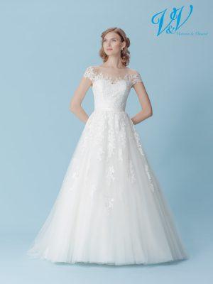 Ein Hochzeitskleid der A-Linie mit Trägern. Sehr hochwertige Qualität der Spitze. Perfekt für einen traditionellen Auftritt.