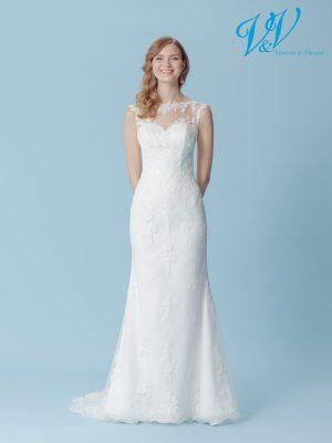 Ein Brautkleid aus Spitze für den schlichten Vintage-Auftritt.