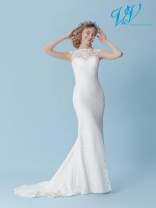 Ein rückenfreies Meerjungfrau-Hochzeitskleid für den schlichten Bohemian-Look.