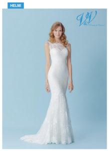 Ein sexy Brautkleid mit schönem Illusion-Rücken aus Spitze.
