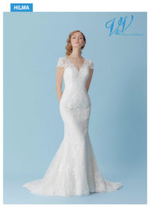 Ein Meerjungfrau-Hochzeitskleid mit schönen Spitzendetails.